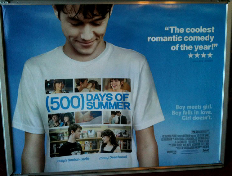 500 DAYS OF SUMMER: (V2 No Border) UK Quad Film Poster