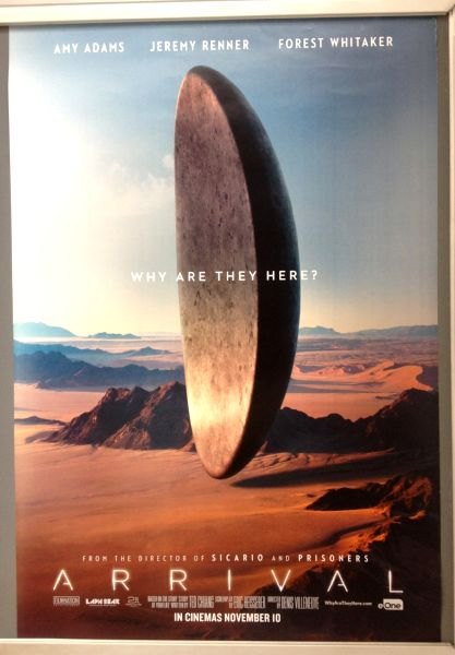 Cinema Poster: ARRIVAL 2016 (Desert One Sheet) Amy Adams Jeremy Renner