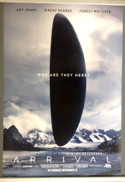 Cinema Poster: ARRIVAL 2016 (Mountain One Sheet) Amy Adams Jeremy Renner