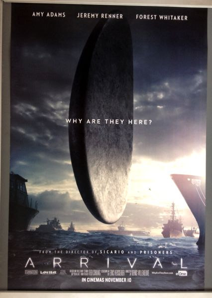 Cinema Poster: ARRIVAL 2016 (Sea One Sheet) Amy Adams Jeremy Renner