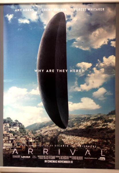 Cinema Poster: ARRIVAL 2016 (Town One Sheet) Amy Adams Jeremy Renner