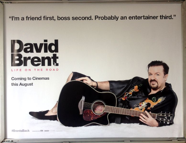 Cinema Poster: DAVID BRENT LIFE ON THE ROAD 2016 (Lying Down Quad) Ricky Gervais