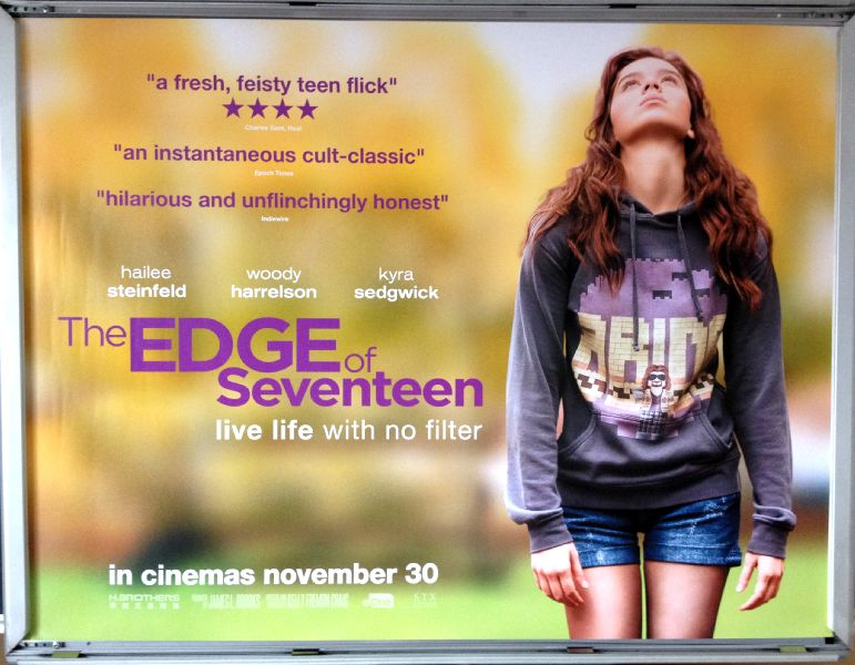 Cinema Poster: EDGE OF SEVENTEEN, THE 2016 (Quad) Hailee Steinfeld Haley Lu Richardson