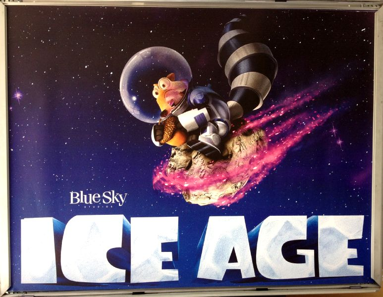 Cinema Poster: ICE AGE COLLISION COURSE 2016 (Mosaic Quad) Simon Pegg Denis Leary