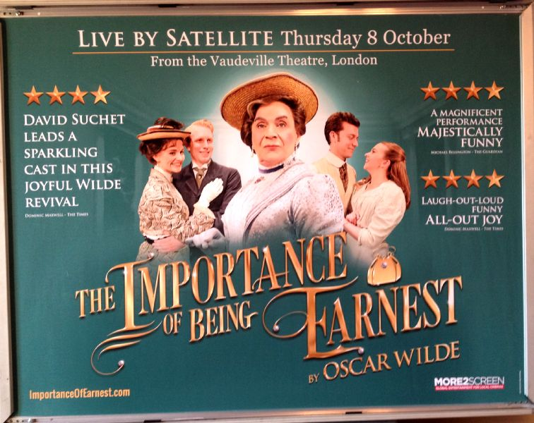Cinema Poster: IMPORTANCE OF BEING EARNEST, THE 2015 (Quad) David Suchet