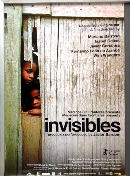 Cinema Poster: INVISIBLES 2007 (One Sheet) Lia Chapman Isabelle Stoffel Mariano Barroso Isabel Coixet