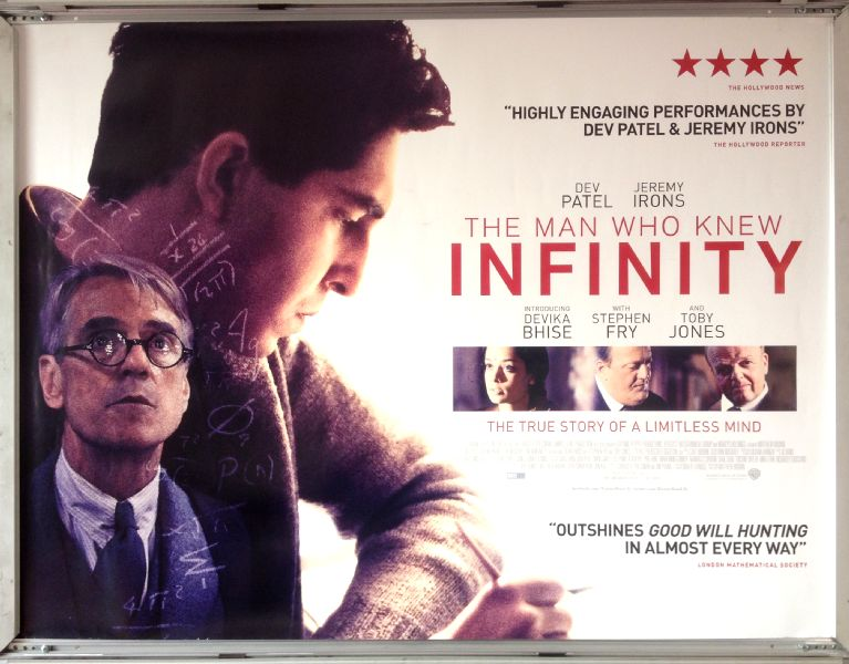 Cinema Poster: MAN WHO KNEW INFINITY, THE 2016 (Quad) Dev Patel Jeremy Irons Malcolm Sinclair