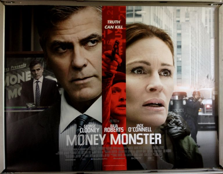 Cinema Poster: MONEY MONSTER 2016 (Quad) George Clooney Julia Roberts Jack O'Connell