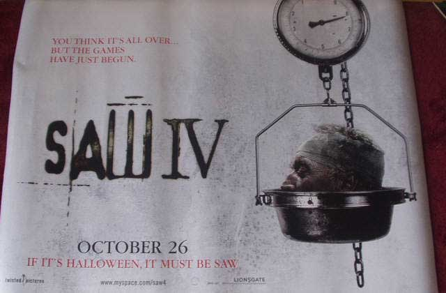 SAW IV: Main UK Quad Film Poster