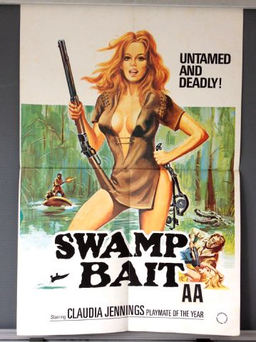 Cinema Poster: SWAMP BAIT 1974 (Double Crown) Claudia Jennings Sam Gilman