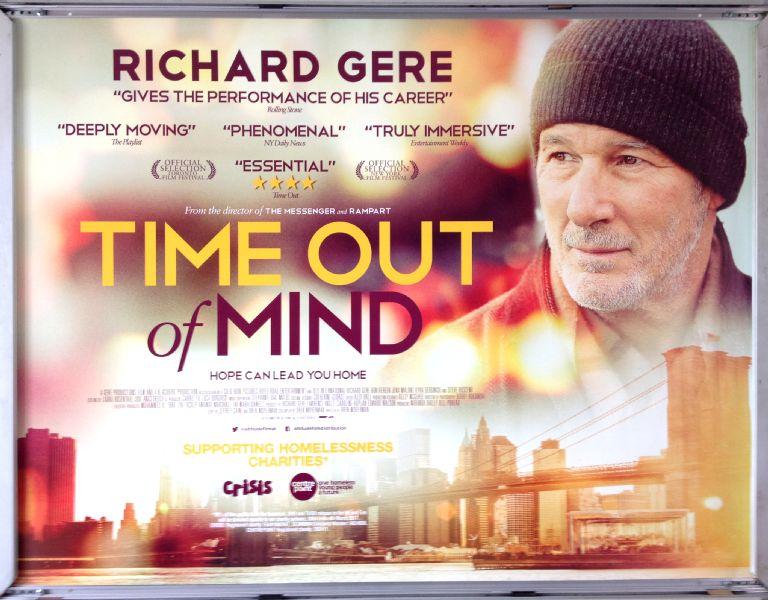 Cinema Poster: TIME OUT OF MIND 2016 (Quad) Richard Gere Ben Vereen Jena Malone